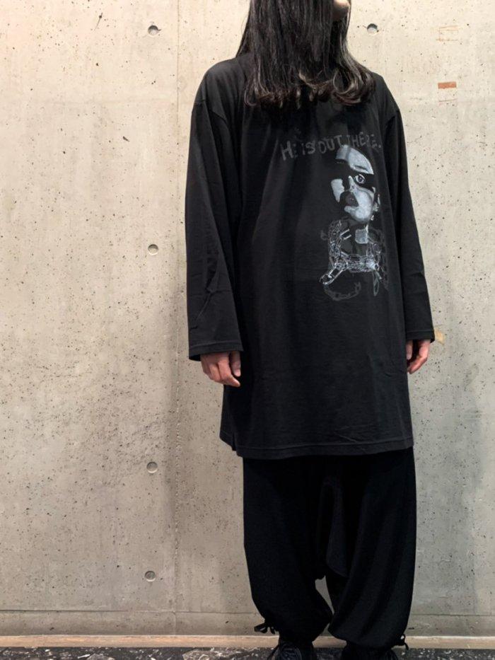 Yohji Yamamoto  HE IS OUTプリント ビッグロングスリーブ