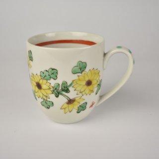 色絵マグカップ 菊