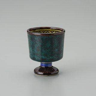 陶胎青手馬上杯(見込:牡丹−3)