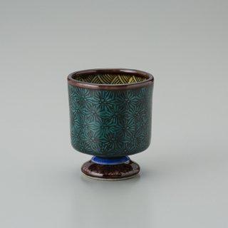 陶胎青手馬上杯(見込:千鳥−2)