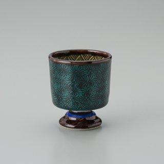 陶胎青手馬上杯(見込:千鳥−3)