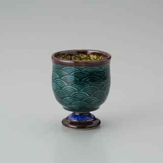 陶胎青手馬上杯(見込:千鳥−4)