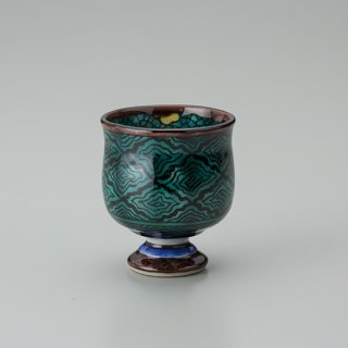 陶胎青手馬上杯(見込:梅花−1)