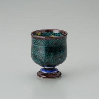 陶胎青手馬上杯(見込:梅花−2)