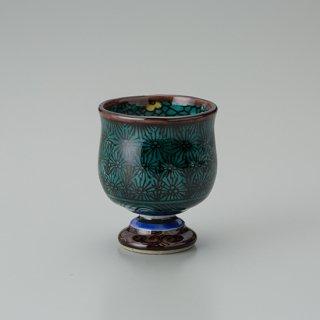 陶胎青手馬上杯(見込:梅花−3)