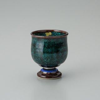 陶胎青手馬上杯(見込:梅花−4)