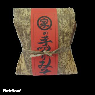 マルイエ醤油川根本家 手造り味噌 竹皮包み1kg