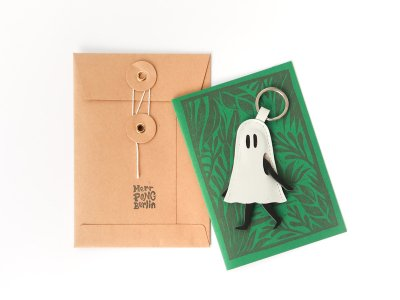 Little Ghost Key Holder / White
