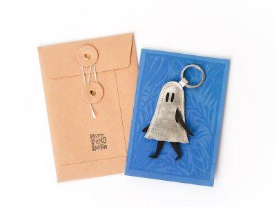 Little Ghost Key Holder / Silver