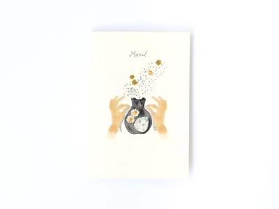 Birthstones and Flowers Card / April