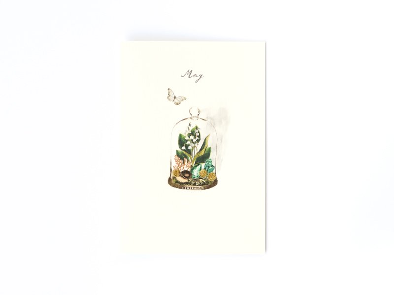 Birthstones and Flowers Card / May