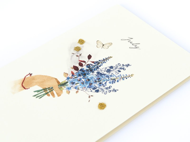 Birthstones and Flowers Card / July