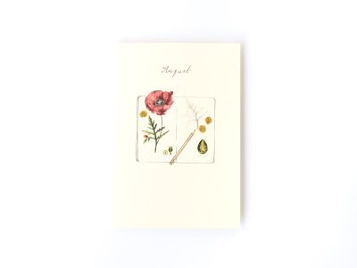 Birthstones and Flowers Card / August