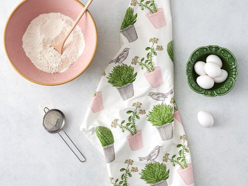 Tea Towel / Cactus&Bird