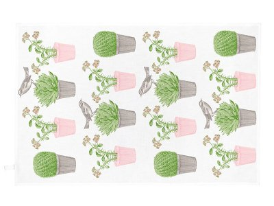 Tea Towel / Cactus&Bird