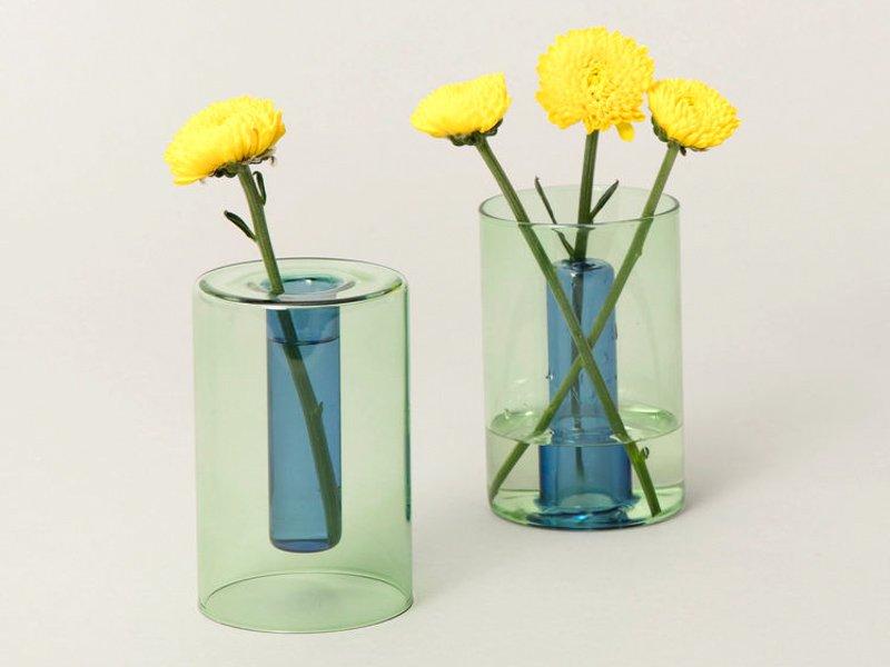 Reversible Vase / Green&Blue