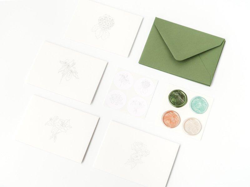Mini Card Set / Botanical