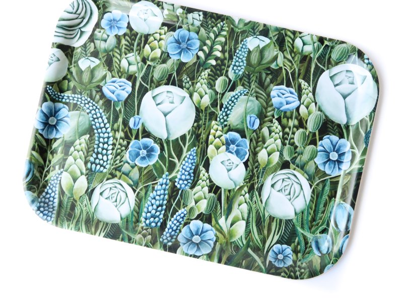Tray / Blue Flowers