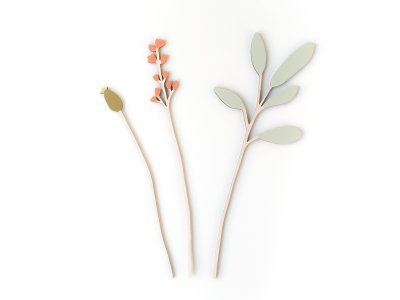 Wooden Flowers / Summer Sage Set