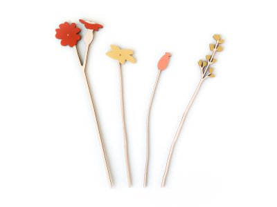 Wooden Flowers / Red Campion Set
