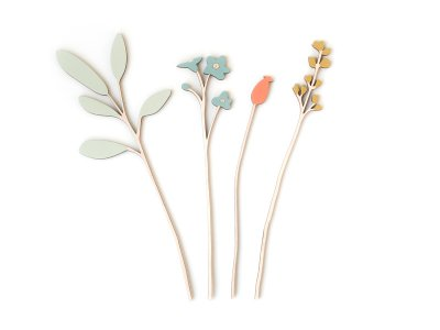 Wooden Flowers / Forget-me-not Set
