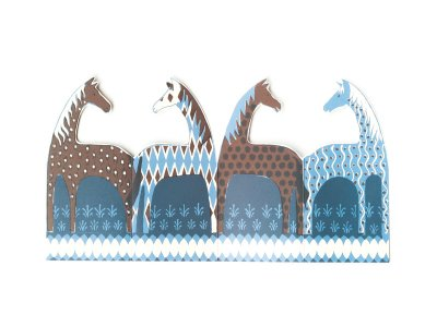 Parade of Horses Card