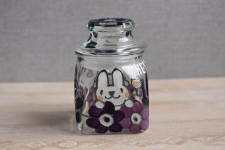 ガラス保存瓶(小)(ウサギ)