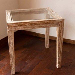 サイドテーブル(ガラストップ)