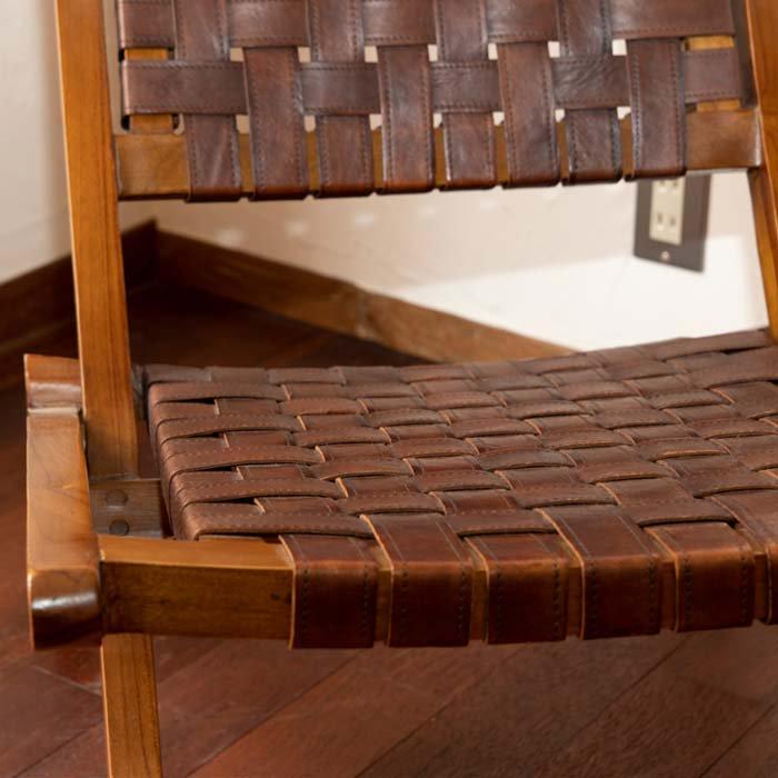 リラックスレザーチェア(折りたたみ式) サブイメージ