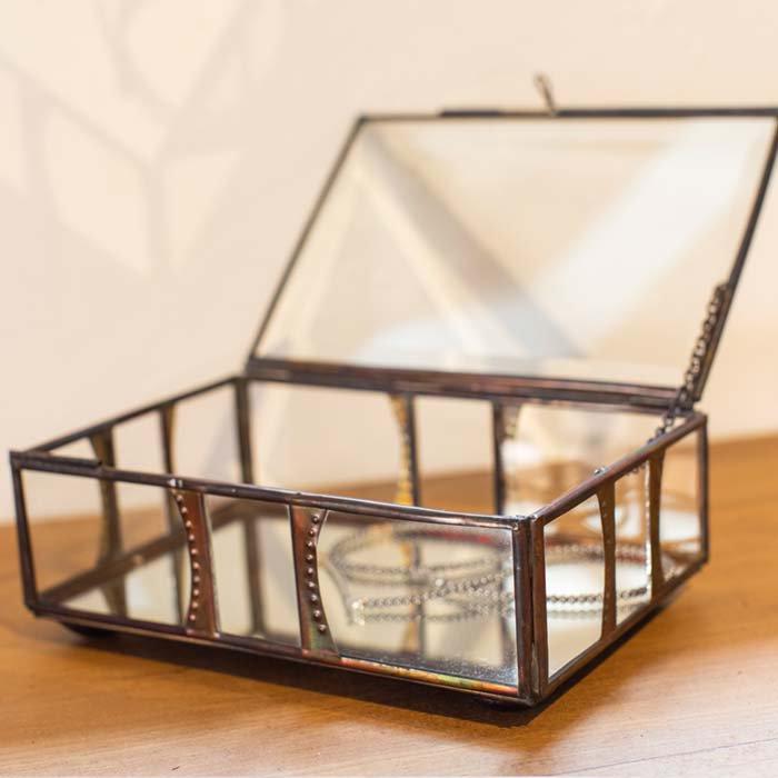 ガラスアクセサリーBOX 大 メインイメージ