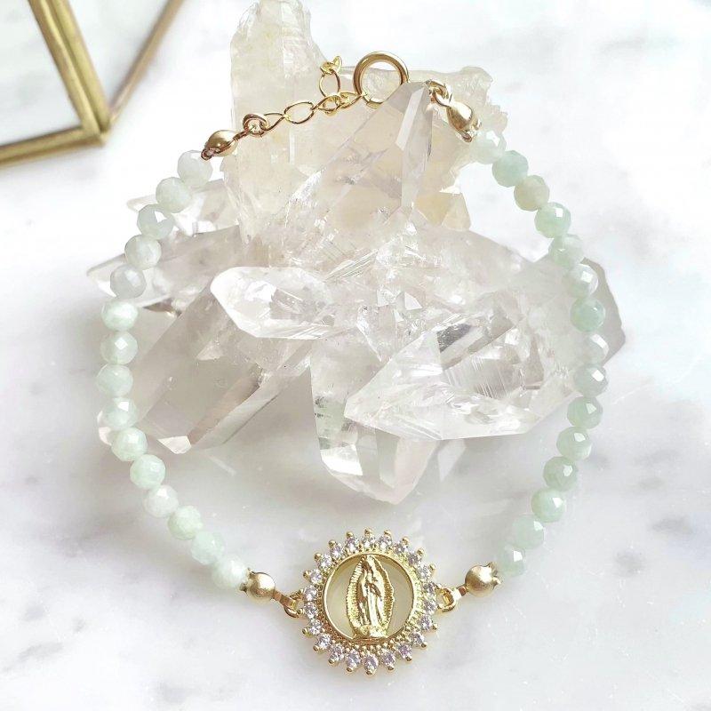 Virgin Mary 翡翠ブレスレット