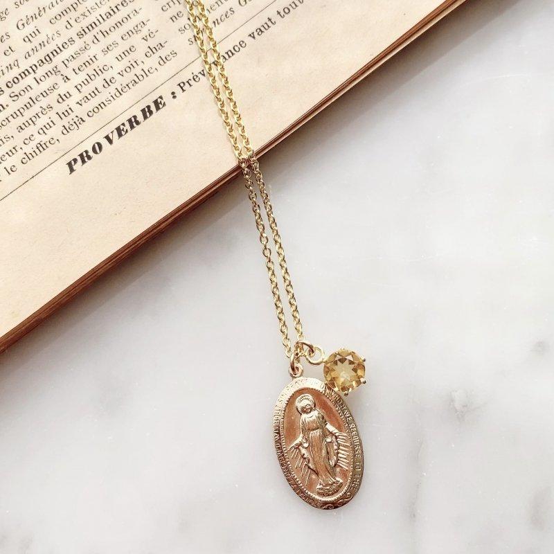 Virgin Mary シトリンネックレス