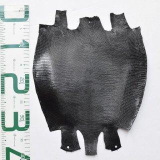 プレミアム・レザー/トカゲ革/Lizard(ブラック)Plb-03