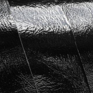 キューグリップ革巻き用 エナメル質 光沢 黒 牛革型押し No.01