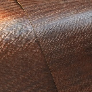 キューグリップ革巻き用 牛革型押し ブラウン No.60