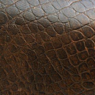 キューグリップ革巻き用 牛革型押し ブラウン No.64 ショートサイズ
