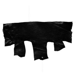 プレミアム・レザー トカゲ革/Lizard(ブラック)ハギレ PL-03