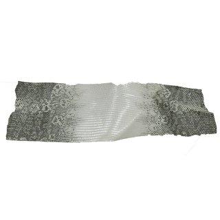 キューグリップ革巻き用 エナメル質 光沢 白 トカゲ革型押し Grip-PL-02