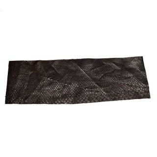 キューグリップ革巻き用 エナメル質 光沢 茶 蛇革型押し Grip-Python-04