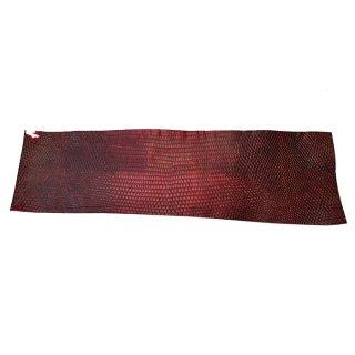 キューグリップ革巻き用 赤 トカゲ革型押し Grip-Lizard-05