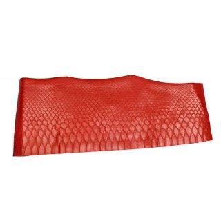 キューグリップ革巻き用 エナメル質 光沢 赤 蛇革型押し Grip-Lizard-06