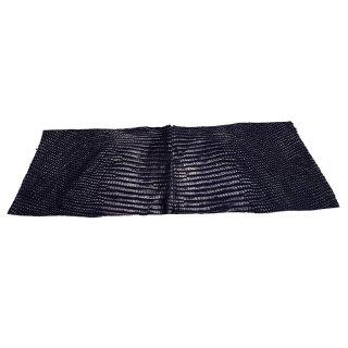 キューグリップ革巻き用 エナメル質 光沢 ネイビー トカゲ革型押し Grip-Lizard-07
