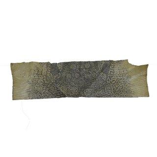 キューグリップ革巻き用 エナメル質 光沢 イエロー トカゲ革型押し Grip-Lizard-21