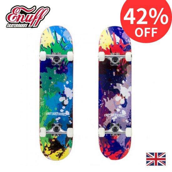 【Enuff / イナフ】 SPLAT  スプラット  コンプリートスケートボード デッキ幅7.75
