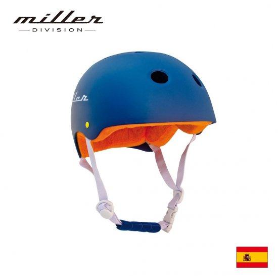 【Miller DIVISION / ミラーディビジョン】子供用ヘルメット ネイビー ブルー 自転車用 練習用