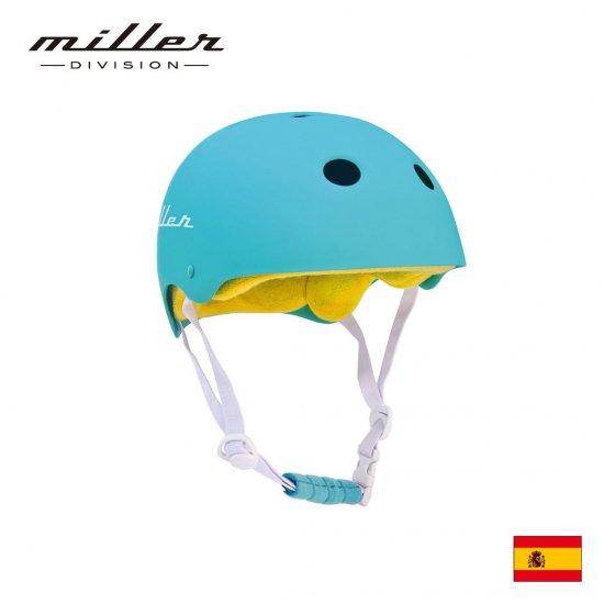 【Miller DIVISION / ミラーディビジョン】子供用ヘルメット ターコイズ ブルー 自転車用 練習用