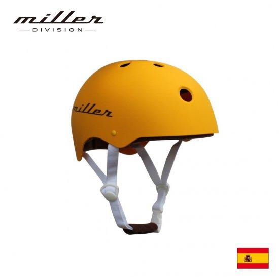 【Miller DIVISION / ミラーディビジョン】子供用ヘルメット マンゴーイエロー 自転車用 練習用