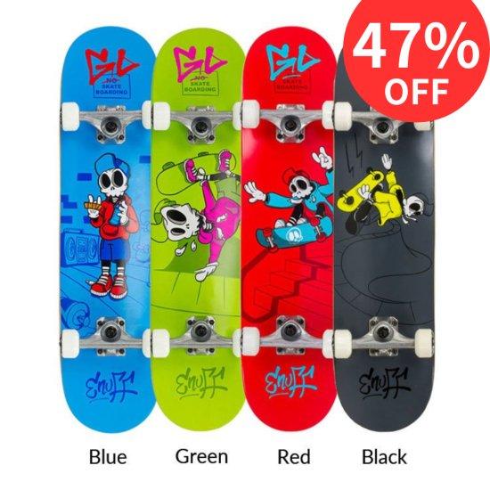 【Enuff / イナフ】 SKULLY MINI スカリーミニ  子供用 コンプリートスケートボード  ドクロ