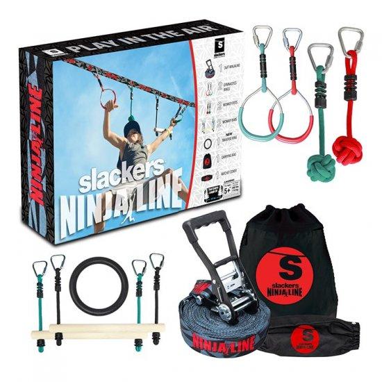 【Slackers / スラッカーズ】NINJALINE 36' Intro Kit with 7 Hanging Obstacles ニンジャライン スラックライン