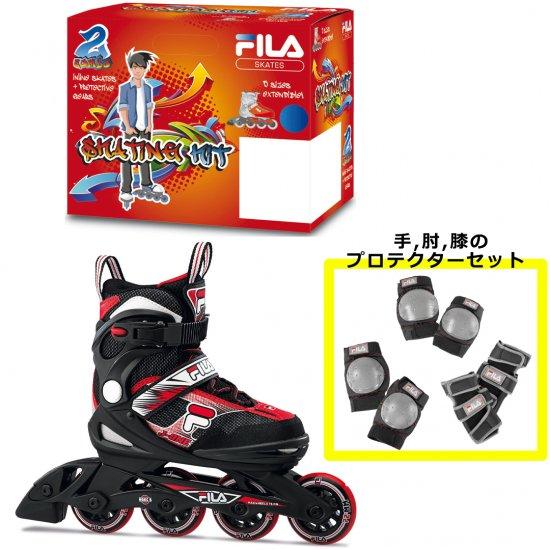 【FILA Skates / フィラスケーツ】 J-ONE Combo 2Set インラインスケート 子供用 プロテクター付き